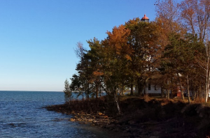 Port Hope lighthouse fall